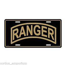US ARMY RANGER METAL ENAMEL EMBOSSED LICENSE PLATE 6 X 12 INCHES