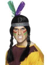 Smiffys Native American Inspired Feathered Headband Unisex Multi - One Size