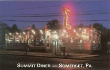 Somerset Pa Summit Diner Postcard Roadside #r017
