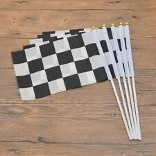 5Pcs Mosaic Racer Car Racing Cheer Race Flags Signal Check Flag Waving Flags