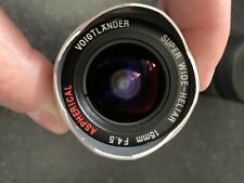 Voigtlander Super Wide Heliar 15mm f 4.5 Leica M With Metabones M To Sony E Adap