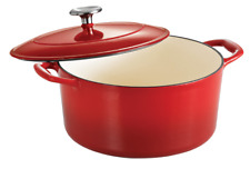 Tramontina Gourmet 5.5 Qt Enameled Cast-Iron Covered Round Dutch Oven Red New