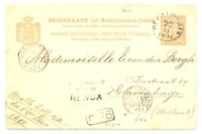 DUTCH INDIES 1890 PS= NED INDIE OVER GENUA= (R99)-KR= PEKALONGAN = F/VF