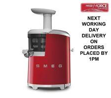 Smeg SJF01RDUK Red Slow Juicer 50's Style Retro 2 Year Guarantee + Recipe Book