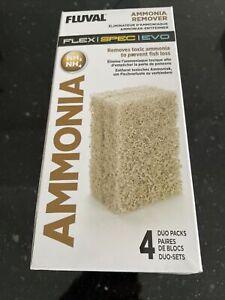 Fluval Evo/Spec/Flex Ammonia Remover Insert Block (4 x Duo Pack) Media *Genuine*