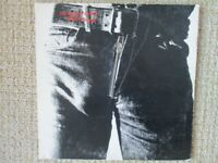 The Rolling Stones Sticky Fingers vinyl LP, US 1971, w/Andy Warhol gold stamp