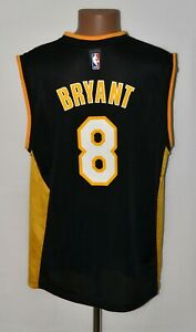 NBA LOS ANGELES LAKERS BASKETBALL SHIRT #8 BRYANT REEBOK SIZE L ADULT
