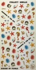 Nail Art 3D Decal Stickers Various Sea Shells,  Pearls,  Swimming,  Beach  LY030