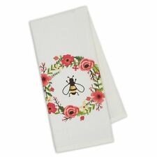 "New DII Design Imports 18""x28"" Kitchen Towel SPRING BUMBLE BEE WREATH"