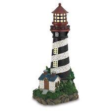 Solar Powered Lighthouse Decorative Outdoor Living Garden Decor Nautical Yard