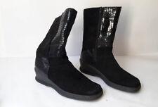 Rohde Stiefel stiefeletten damen schwarz Größe 41 (7,5) (A755)