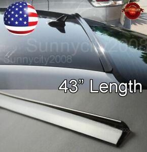 "43"" Semi Gloss Black Rear Diffuser Window Roof Trunk Spoiler Lip For  Nissan"