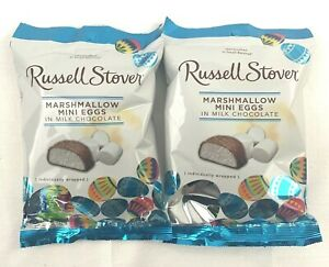 2 Russell Stover Milk Chocolate Marshmallow Mini Eggs 2.95oz Each Bag New