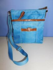 NINE WEST BLUE AND BROWN SHOULDER, CROSS BODY BAG, HANDBAG, PURSE