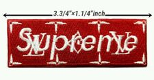 Red SUPERME LV RED Embroidery Logo iron , sewing,patches on clothes