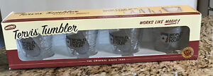 World Poker Tour Tervis Tumblers Insulated 12 oz Glasses Spade Set Of 4 New