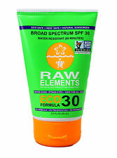Raw Elements Eco Form Sunscreen - Spf 30 Plus - 3 Oz 2 Pack