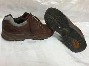 clarks active air mens brown leather shoes size uk 7 / eu 41