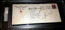 RARE SIGNED CY YOUNG JIMMIE FOXX HOF PSA/DNA AUTO Boston Red Sox Stationary 1938