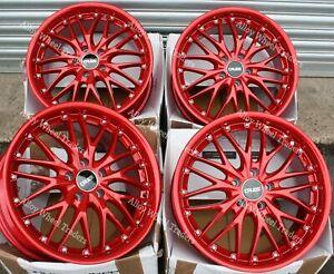 "Alloy Wheels 18"" 190 For Vauxhall Adam Corsa Corsavan Meriva Omega 5x110 Red"