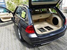BMW e91 whole car audio installation monunt elements / subwoofer / boot / doors