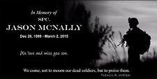 Personalized Pet Stone Memorial Grave Marker Granite Human plaque Soldier theme