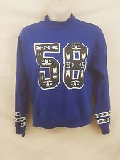 H&M Divided Jersey Blue Beaded Sweater Womens size S