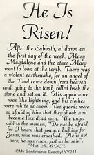 NEW MSE! My Sentiments Exactly! UnMounted Rubber Stamp YY241 He is Risen!
