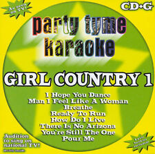 PARTY TYME KARAOKE: GIRL COUNTRY 1  CD+G KARAOKE Machine music NEW!!!