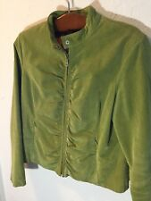 Wilsons 100% Leather LIME Suede JACKET Size large Zip Front COAT ladies