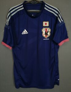 PLAYER ISSUE MEN ADIDAS JAPAN 2014/2015 HOME FOOTBALL SOCCER SHIRT JERSEY SIZE S