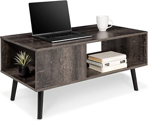 Best Choice Products Wooden Mid-Century Modern Coffee Table, Accent Furniture fo