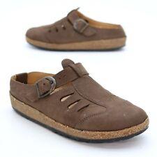 Haflinger Ladies 36 (about 5.5 US) Slip On Nubuck Leather Cork Bottom Sandals