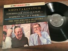 Shostakovitch: Concerto for Cello/ Rostropovich/Ormandy/TPO Columbia 1B/1B  NM-