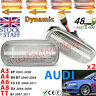 Audi SWEEPING Dynamic LED Repeater CLEAR SWIPING Side Indicator Flash LUXFACTORY