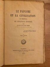 . Eliphas levi  LE PAPISME ET LA CIVILISATION, PAR LE PAYSAN DE SAINT PIERRE