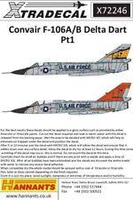 XTRADECAL 1/72 CONVAIR F-106A/B DELTA DART parte 1 # 72246