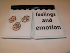 Board maker feelings/emotions flip book visual learning aid
