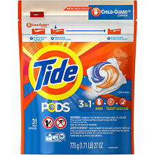 Tide PODS HE Turbo Laundry Detergent Pacs Original Scent Total 31 count NEW