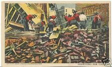 Vintage 1898-1906 Undivided Back PC- San Francisco Earthquake- Firemen- Victims
