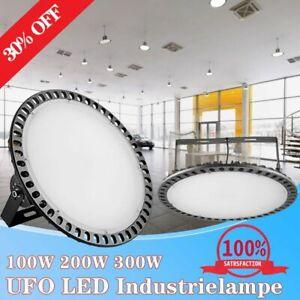 100W 200W 300W UFO LED Hallenleuchte Industrie Hallenfluter Werkstattbeleuchtung