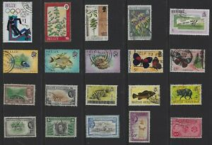 H175 British Honduras & Belize  A Small Collection Early & Modern Umm Lhm & Used