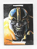 2018 Marvel Masterpieces 1/1 Sketch Thanos by Mark Mangum Signed