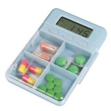 NEW Digital Pill Box Timer Alarm Medication Reminder Set 4 Alarms Pocket or Bag