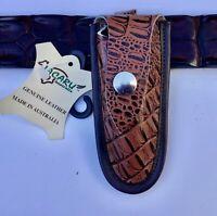 1 Buffalo leather KNIFE pouch put on BELT Australianmade hunting fishing sport