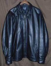 Gap Men's Size XL Black Fully Lined Leather Long sleeve Adventurers Jacket!