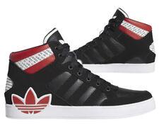 Nuevo adidas Originals Hard Court Hombre Negro Rojo Blanco Zapatillas All Tallas