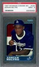 Adrian Beltre Rookie Card 1997 Bowman Chrome International #182 Dodgers PSA 9