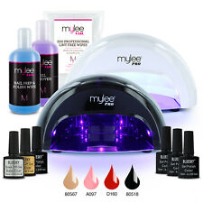 Mylee Bluesky Kit LED Nail Dyer Lamp w/ 4 Gel Polish Colours Full Christmas Set