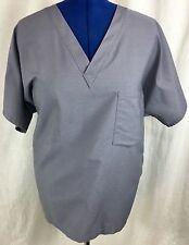 Landau Gray Reversible Scrub Top Medical Uniform Shirt Unisex Men's Women's XL